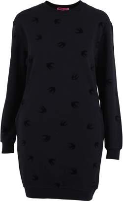 McQ Black Swallows Print Dress