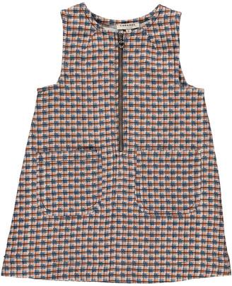 CARAMEL Cress Checked Linen Dress $147.60 thestylecure.com