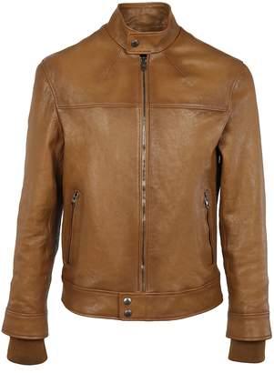 Alexander McQueen Leather Bomber Jacket