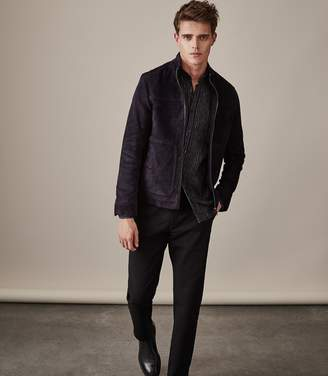Reiss Callum Suede Zip Through Jacket