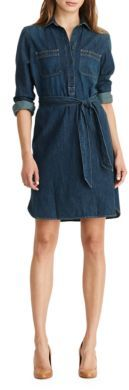 Lauren Ralph Lauren Denim Shirtdress $125 thestylecure.com