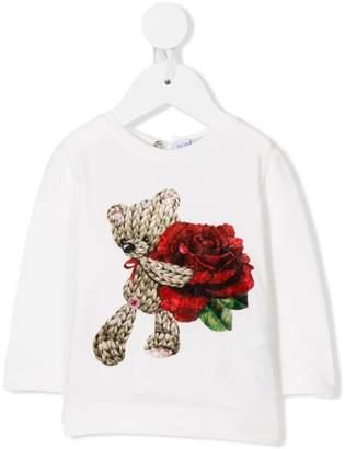 MonnaLisa bear print longsleeved T-shirt