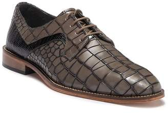 Stacy Adams Triolo Croc Embossed Contrast Leather Derby