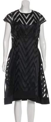 Lela Rose Semi-Sheer Midi Dress w/ Tags