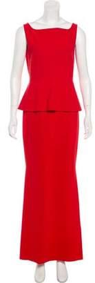 Chiara Boni Peplum Knee-Length Dress