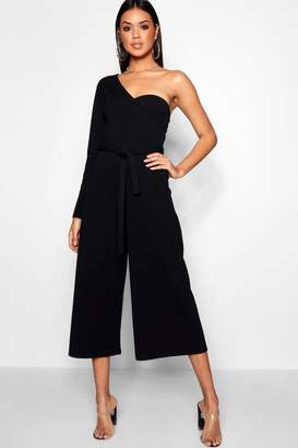 86d6e83ca97 boohoo One Sleeve Bustier Style Jumpsuit