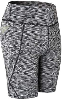 7e1d76e6e9 INIBUD 1 Pack Womens Yoga Shorts Bike Cycling Running Workout Tights  Legging with Pocket (,