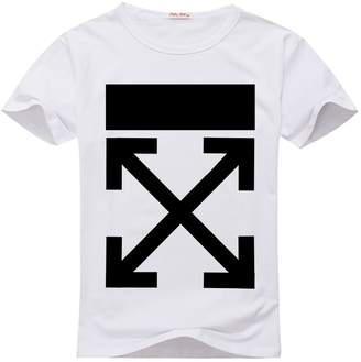 Off-White OFF- Men's T-Shirt Short Sleeves Logo in Back /Black