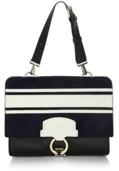 Furla Scoop M Calf Hair Leather Shoulder Bag