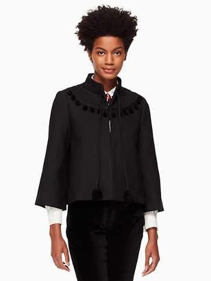Kate Spade Pom embroidered jacket