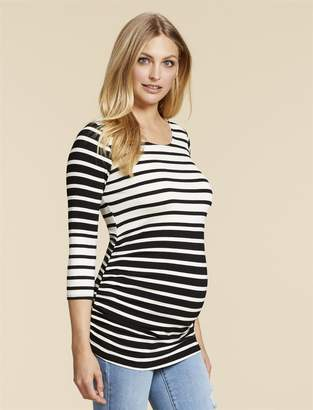 Jessica Simpson Motherhood Maternity Zipper Detail Maternity Shirt