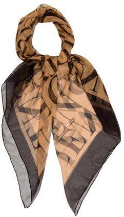 ValentinoValentino Silk Logo Scarf