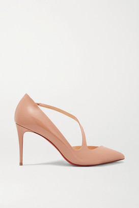 Christian Louboutin Jumping 85 Patent-leather Pumps - Neutral