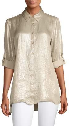Calvin Klein Metallic Long-Sleeve Tunic