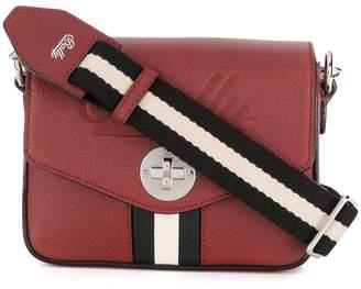 Bally stripe detail crossbody bag