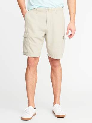 Old Navy Linen-Blend Cargo Shorts for Men - 10 inch inseam