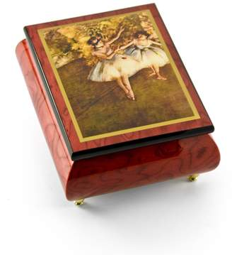 "Ercolano MusicBoxAttic Gorgeous Handcrafted Red Wine Music Box by The Dancers on Stage""- Degas - 12 Days of Christmas - SWISS"