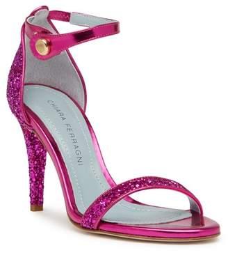 Chiara Ferragni Glitter Strappy High Heel Sandal