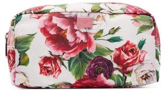 Dolce & Gabbana Floral Print Fabric Washbag - Womens - Pink White