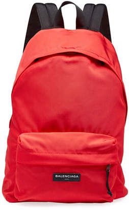 Balenciaga Men's Solid Canvas Backpack