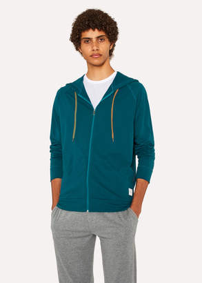 Paul Smith Men's Teal Jersey Cotton Lounge Hoodie