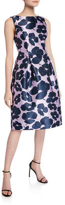 Lela Rose Betsy Full-Skirt Sheath Dress