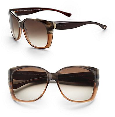 Balenciaga Oversized Cat's-Eye Sunglasses