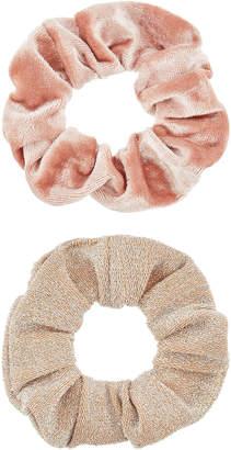 Accessorize 2x Velvet & Glitter Hair Scrunchies