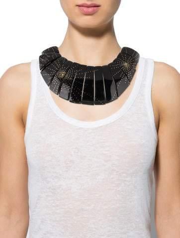 Ashley Pittman Horn Bib Necklace