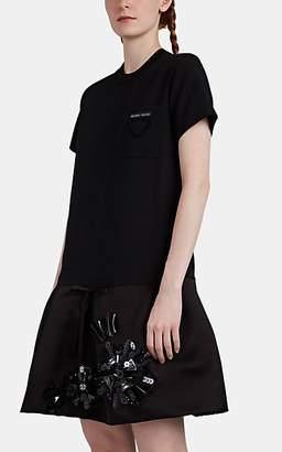 cdf98b0c1e Prada Women s Embellished Cady   Satin Cocktail Dress - Black