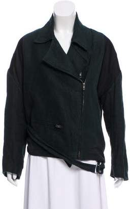 Ann Demeulemeester Pointed Zip-Up Jacket