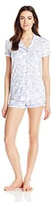 Cosabella Women's Bella Short-Sleeve Cotton Boxer Pajama Set