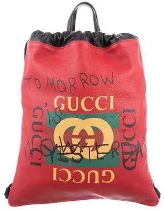 Gucci 2017 Coco Capitan Logo Backpack