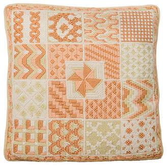One Kings Lane Vintage Patchwork Needlepoint Pillow - Madcap Cottage