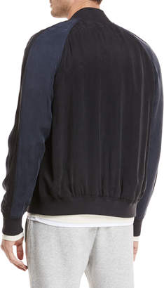 Vince Two-Tone Bomber Jacket