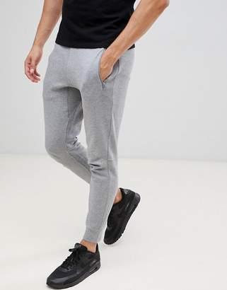 Armani Exchange logo jogger in gray