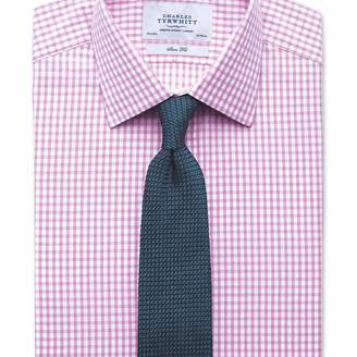 Charles Tyrwhitt Slim fit gingham pink shirt