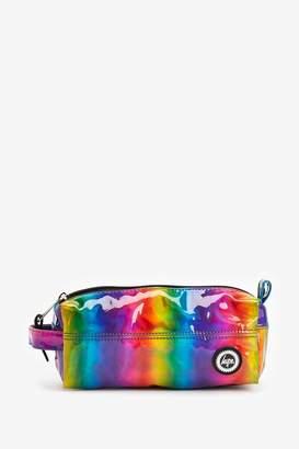 Hype Girls Rainbow Pencil Case - Yellow