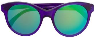 Illesteva mirrored round frame sunglasses