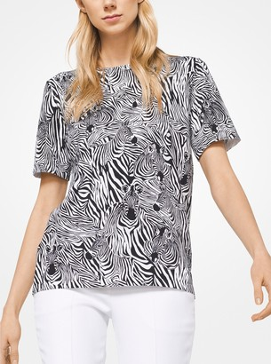 Michael Kors Zebra Cotton T-Shirt