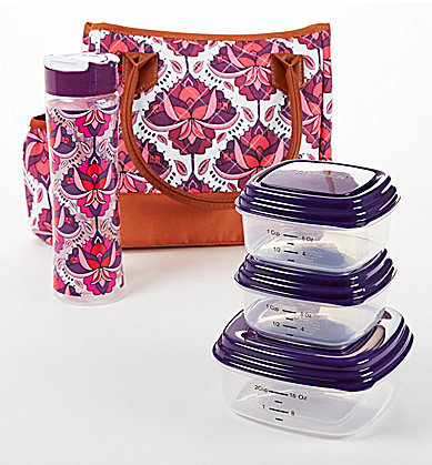 fit & fresh McAllen Lotus Bloom Insulated Lunch Bag Kit