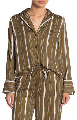 Emory Park Satin Striped Button Down Shirt