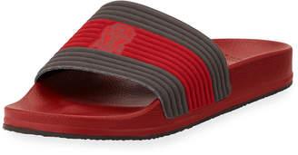 Brunello Cucinelli Striped Slide Sandal