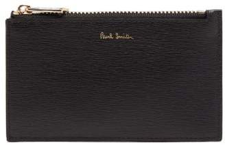 Paul Smith Colour Block Textured Leather Cardholder - Mens - Black