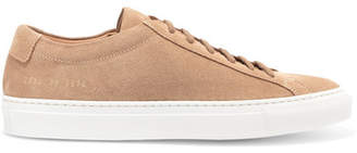 Common Projects Original Achilles Suede Sneakers - Tan