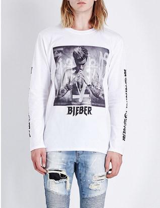 JUSTIN BIEBER Purpose Tour Album art cotton-jersey top $63 thestylecure.com