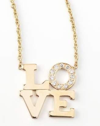 Chicco Zoe Pave Diamond Love Pendant Necklace