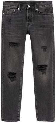 H&M Trashed Straight Jeans - Black
