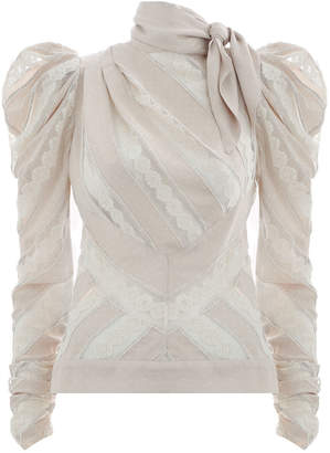 Zimmermann Unbridled Chevron Panel Bodice