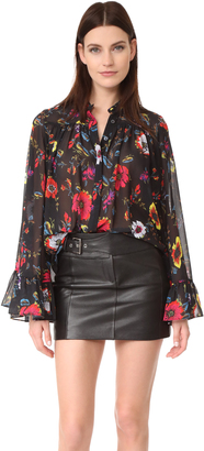 McQ - Alexander McQueen Gathered Volume Blouse $415 thestylecure.com